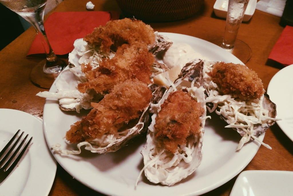 bistro uokin restaurant tokyo fried oysters