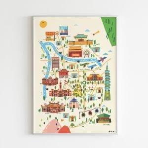 taipei map poster