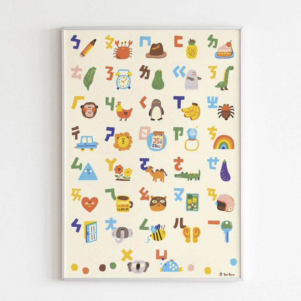 bopomofo alphabet poster
